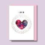 우주만큼사랑해 수채화 캘리카드 / 025-SG-0080