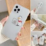 아이폰12 미니 11 pro max 로고 데코 투명젤리 케이스