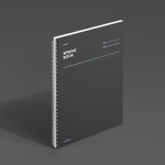 [모트모트] 스프링북 - 다크호스 (룰드) 1EA