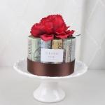 뉴카네이션 플라워 용돈 케이크 DIY - RED