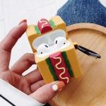 에어팟케이스 소세지빵 실리콘 커버 키링세트 1 2세대