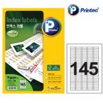(106324)인덱스 라벨(V3550 20매 145칸 프린텍)