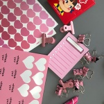 핑크 하트 스티커