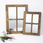 클라라 빈티지 창문형 벽걸이 거울 (대)