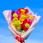 스마일 꽃 인형 꽃다발 2size 졸업식 성년의날 선물