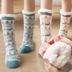 윈털 뽀글이 두꺼운 겨울 롱 수면 양말