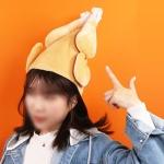 춤추는 닭 치킨 모자 핵 인싸 통닭 이벤트 파티 선물