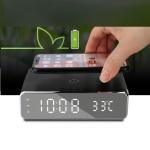 햅시 YMQ17C 고속 무선충천기+탁상용 알람시계