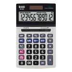 누리안 일반용 계산기 NR-803/전자계산기/탁상형/12자리/'00'입력/메모리계산/소수점지정/자동전원꺼짐/화면각도조절/듀얼전원