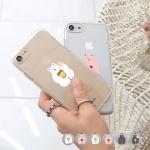 [아이폰XR] 뚱곰 투명젤리 케이스