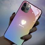 아이폰11 pro max xr xs 하트 그라데이션 발광 케이스