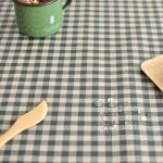 컨츄리체크 방수식탁보(카키 2인~10인용)
