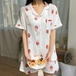 요루면 100% 딸기 여름잠옷 세트