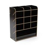 초이스원 12칸 사선 펜꽂이(블랙)/ 책상정리 연필꽂이