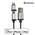 [MFi인증]버바팀 충전/싱크 라이트닝 8핀 커넥터 + Micro-USB 5핀 케이블1.2m(VB648)