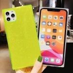 아이폰11 PRO MAX 글리터 형광 네온 젤리 사각 케이스