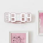 레토 3D 무소음 벽시계  탁상시계 LLC-P03DG 로즈골드