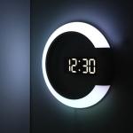 [무아스] 무드등 듀얼 미러클락 LED벽시계
