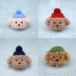 에어팟 1/2 귀여운 강아지 푸들 캐릭터 뜨개질 케이스