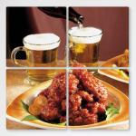 tf389-멀티액자_맥주와함게먹는양념치킨