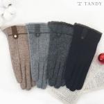 탠디 스웨이드 패치 여성용 스마트터치 모장갑