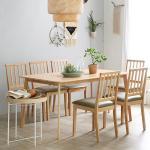 [모리프]캔버로체 6인용 원목식탁세트(의자형)
