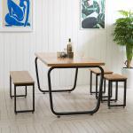 스틸뷰 1200 식탁+의자세트 테이블