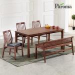 파로마 카라 고무나무원목 6인용 식탁세트 A30