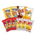 크라운  콘칩+신짱+죠리퐁+콘치+콘초 (총9개)