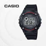 카시오 군인 군용 전자 빈티지 손목시계 W-216H-1A