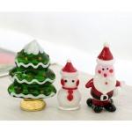[2HOT] 유리공예 크리스마스 3P 미니어쳐