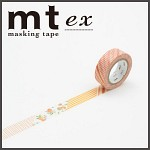 폭15mm-일본 mt 디자인 마스킹테이프 Deco-꽃패턴 hd205-EX31