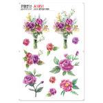A1851-꾸밈인스스티커_꽃다발수채화