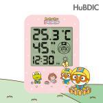 [휴비딕]뽀로로 디지털 시계 온습도계 HT-2 핑크 외