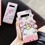 갤럭시 유니콘 캐릭터 자개 실리콘 핸드폰 케이스