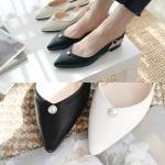 [애슬릿]진주 스틸레토 여성 슬링백 플랫 1.5cm