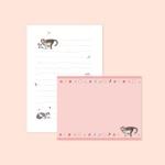 018-SL-0003 / 고양이 편지지 (핑크)