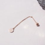 14k gold small circle drop piercing