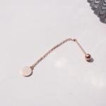 14k gold small circle drop piercing