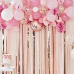 [빛나파티]핑크, 피치 풍선과 허니콤, 페이퍼팬키트