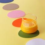 [N365] 케라미카 실리콘 컵받침 오벌 4P