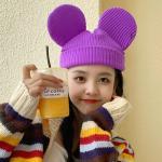 왕마우스 귀여운 귀모양 캐릭터 비니 모자