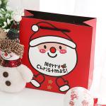 포포팬시 메리 크리스마스 산타 선물 쇼핑백 Large