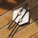 제이로렌 91ETC0014 유광 블랙가죽 빈티지 골드시계