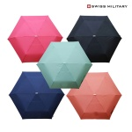 스위스밀리터리 초경량 수동 접이식 단색 3단 우산