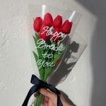 레터링 망고 튤립 꽃다발 생화같은 조화 여자친구선물