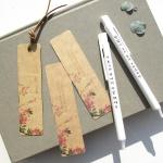 진달래꽃 책갈피 볼펜 세트