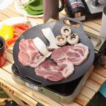 가정 캠핑용 5중 코팅 솥뚜껑 고기불판 그리들팬 31cm