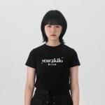 로고 타이트 티셔츠_BLACK