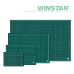 윈스타 PVC 녹색 데스크 커팅 매트 A3 450X300[00032781]